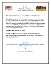 EverFi Blended Learning for Critical Life Skills Webinar