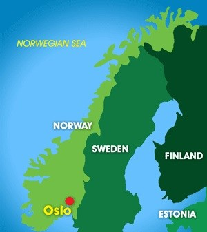 Norway Olympics Smore - Norway vegetation map