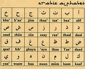 This is a table of some Arabic writing.