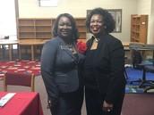 Southfield Principal Janice Sharpe with Board President Dr. Thelma Dillard