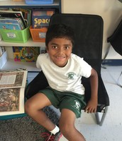 Rohan brought in a few of his favorite books!