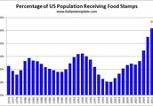 the population of african american with food stamps