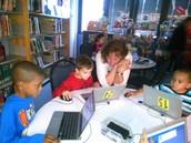 Kindergarteners Coding!!!!