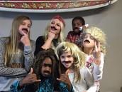 Amanda and the kids church kids mustache you a question!