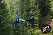 Ziplining in Whistler