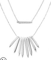 Rebel cluster necklace-silver