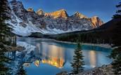 Lac Moraine en Banff, Alberta