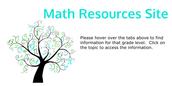 Teacher/Parent Math Resources Site
