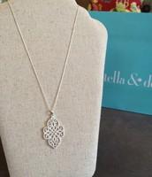 Silver Filigree Pendant - $25