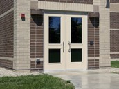 Secure Cafeteria Doors
