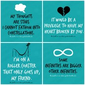 The quotes of The Fault in our Stars