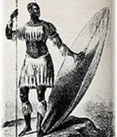 Indigenous African warriors and how they dressed. They had a lack of defensive weapons.