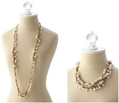 Gabrielle pearl necklace $45