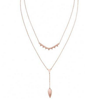 SOLD Tiered Lariat - Rose Gold