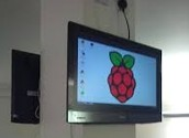 Raspberry Pi connected to TV