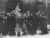 Deportees Arriving at Birkenau