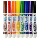 Water color markers are water based and are soluble in water