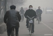 In China people had to wear masks because the air was too dangerous for them.