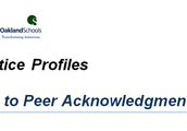 Practice Profile Video:  Peer to Peer Acknowledgement