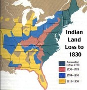 Map of Indian land lost in 1830