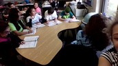 A group doing math