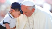 Pope Francis and kid