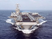 This is a typical aircraft carrier