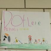 1st Grader Sophia's Winning Poster