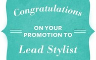 Lead Stylist Promotions