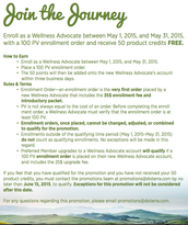 New Enrollees for the Month of May Receive 50 free product points!