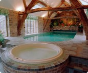 Inside Pool and Hot tub