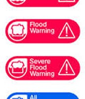 Flood Watch- When a message happens on the television or radio telling you about a flood warning.