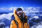 Bear Grylls on the summit.