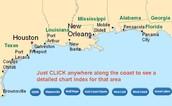Map of the Gulf Coast Area