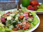 La ensalada de verduras
