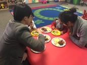 Daegyum's family eating party yummies