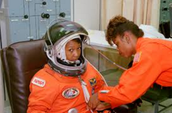Mae Jemison Getting Ready For Take-off