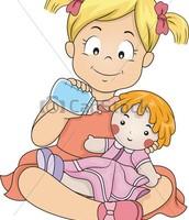 Me fascinaba jugar con muñecas.