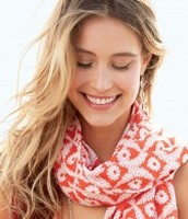 Capri Cotton Wrap - Geranium Floral $59