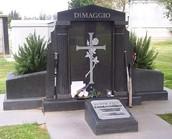 Joe Dimaggio's grave site