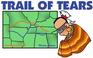 Map of Trail of Tears