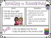 Summarizing and retelling