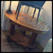 Antique Oak Oval Table - $375