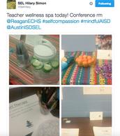 Teacher Self-Care at Reagan ECHS