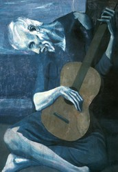 'The Old Guitarist' by Pablo Picasso (1903)