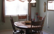 Kitchen & dining area are yours to share