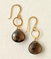 Perfectly Faceted Earrings / Smoky Quartz & Gold Vermeil