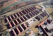 Birds eye view of Auschwitz
