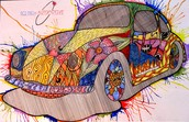 Becca's submission to the Crazy Car Art Contest