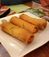 Spring Roll with Vegetables and Egg Whites
